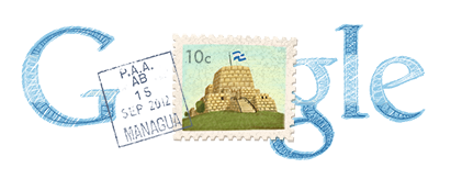 Google Logo: Nicaragua's Independence Day - 2012